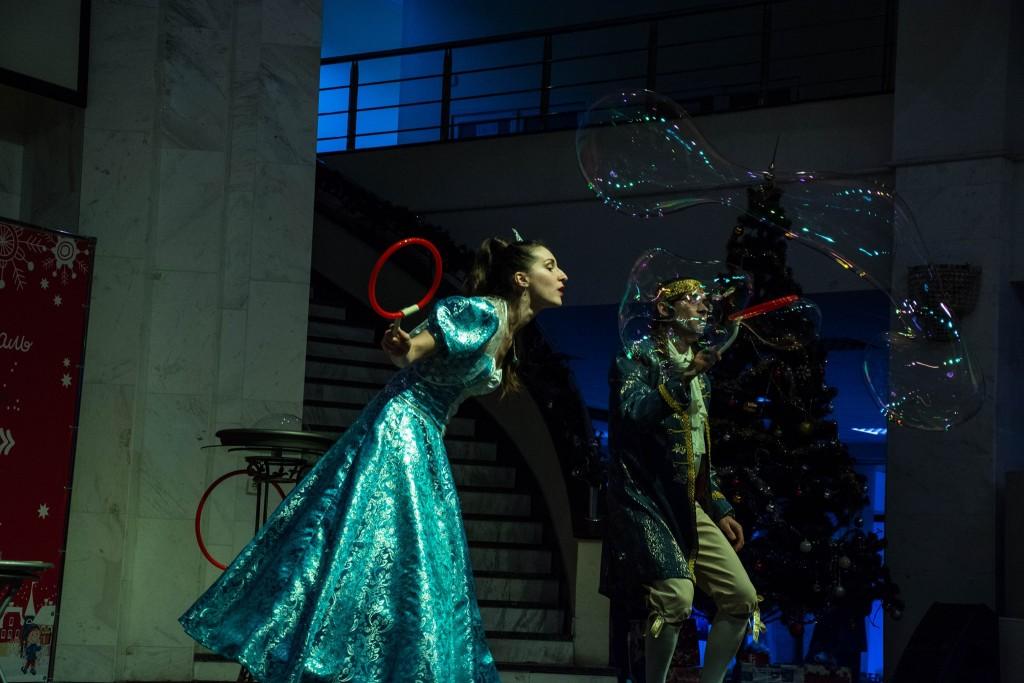 Шоу мыльных пузырей на сцене | Bubbles Show