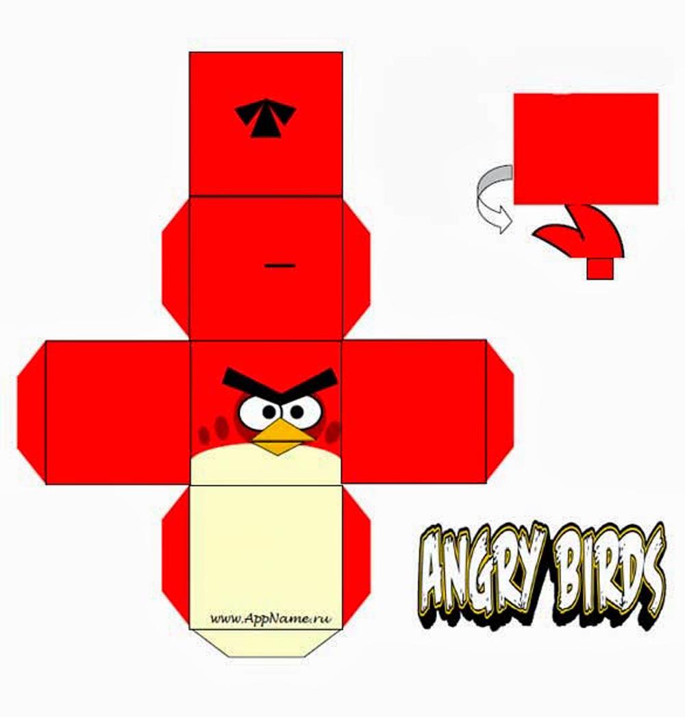 Angry Birds из бумаги