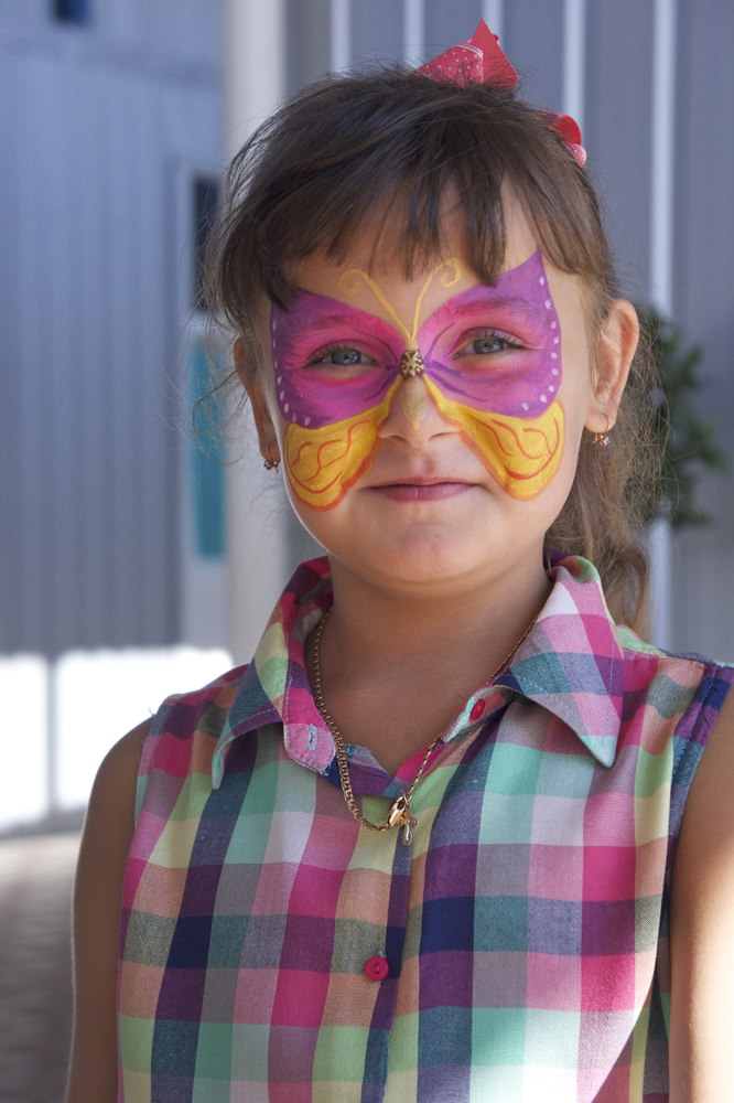 Бабочка на лице | Аквагрим
