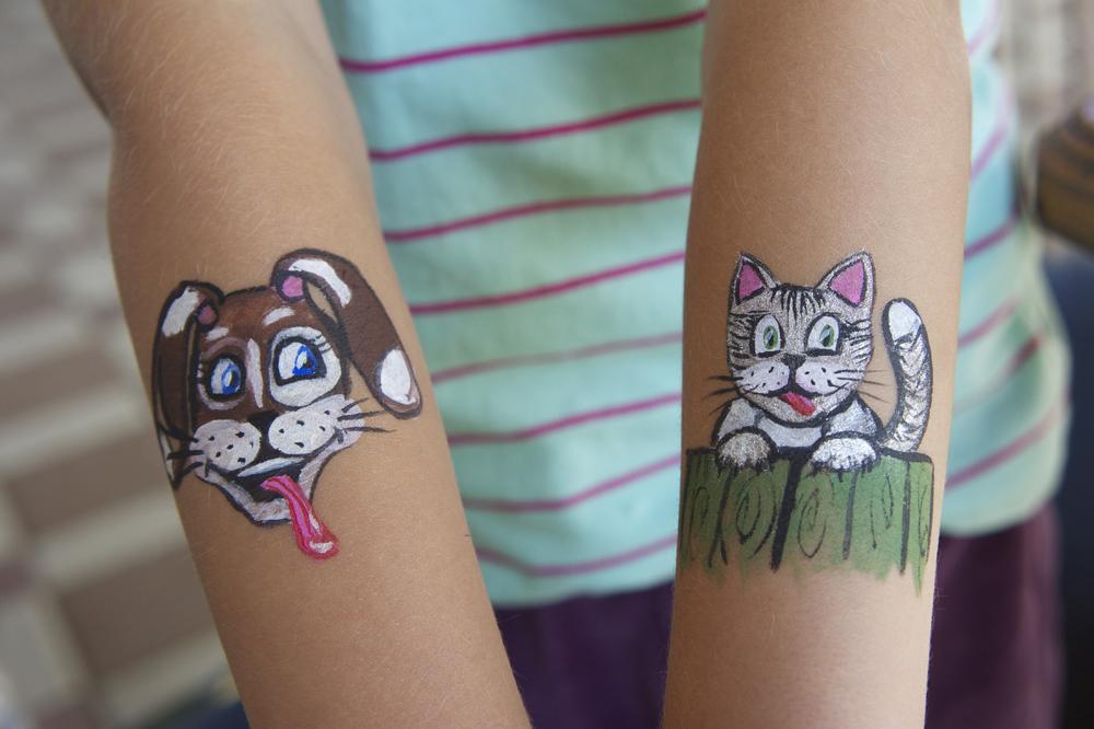 Кот и пес | Аквагрим
