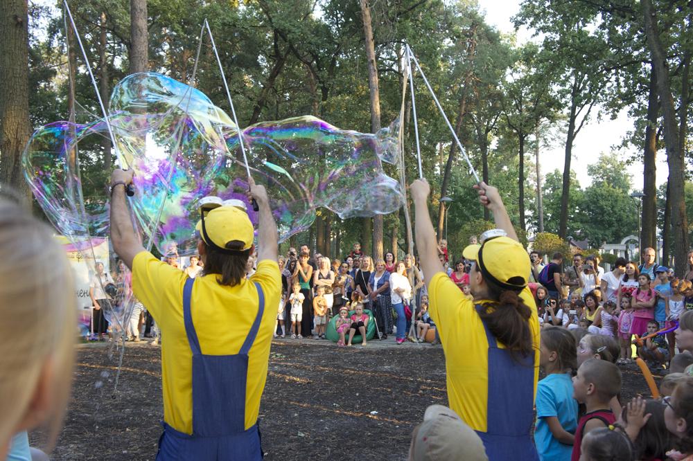 Мыльные пузыри на день города