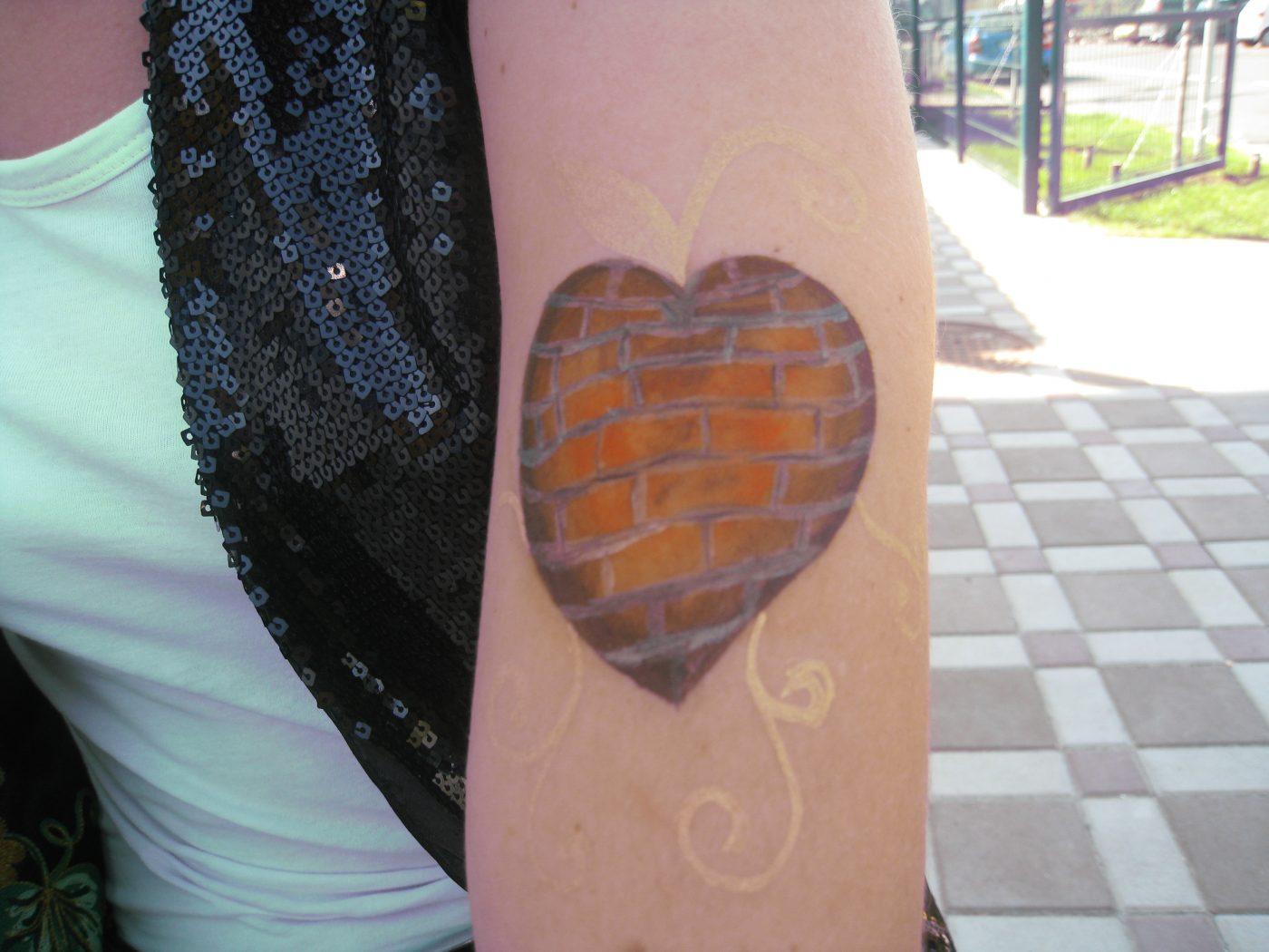 Сердечко | Аквагрим