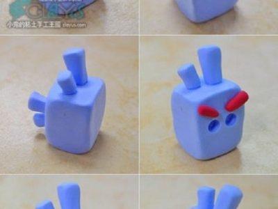 Angry Birds из пластилина